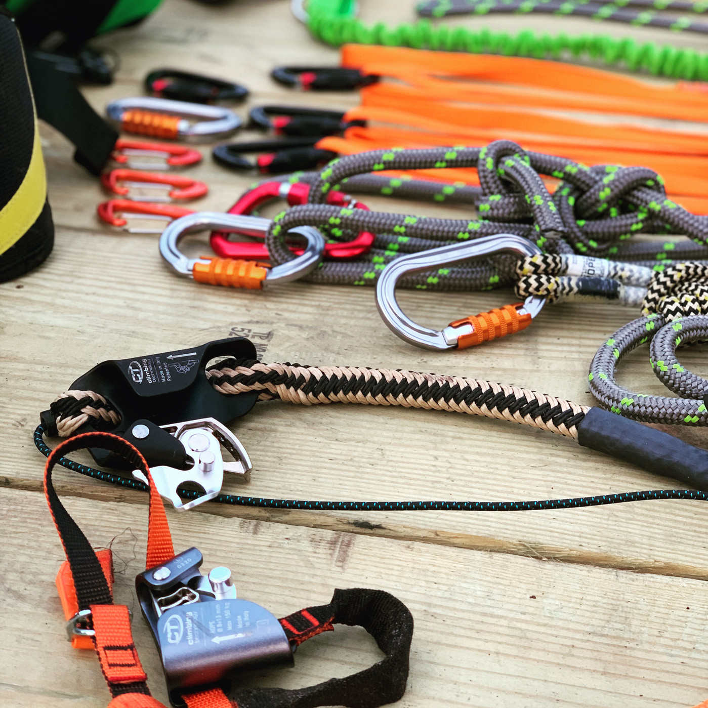 Guess what, MORE CLIMBING GEAR.
