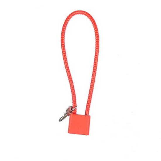 PISTOL CABLE LOCK - RED