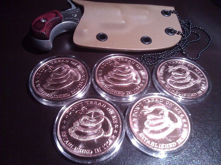 DON'T TREAD ON ME - 5 COINS