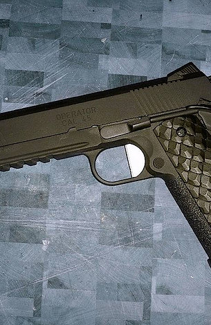 FULL-SIZE 1911 DRAGON SCALE GRIPS - BLACK