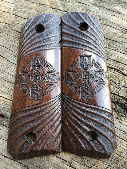 New! 1911 Aequitas/Veritas Wood Grips - Full Size