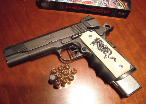 FULL-SIZE SMOOTH 1911 BLACK DRAGON GRIPS | 1911 Custom Killer ...