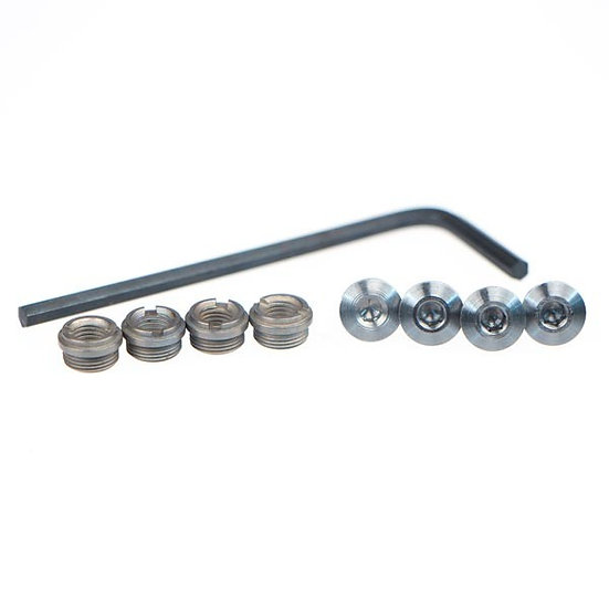 1911 HEX GRIP SCREWS AND BUSHING FOR THIN SET GRIPS - SET OF FOUR