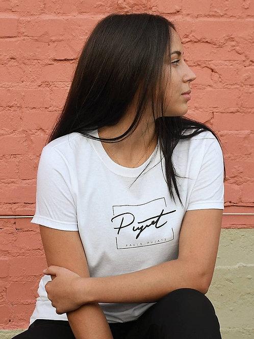 Women's Pauls Pujats signature logo t-shirt