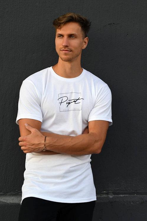 Men's Pujats signature logo longline t-shirt