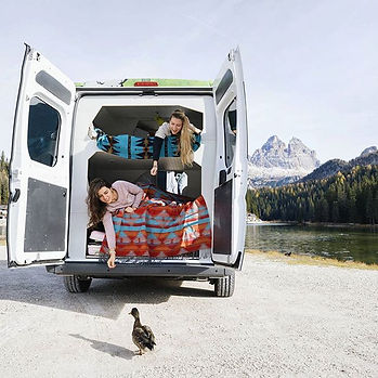 camper van in Italy. Camper van life. How to live in a camper van