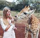 animal volunteering, animal selfie, giraffe, animal conservation, working with animals