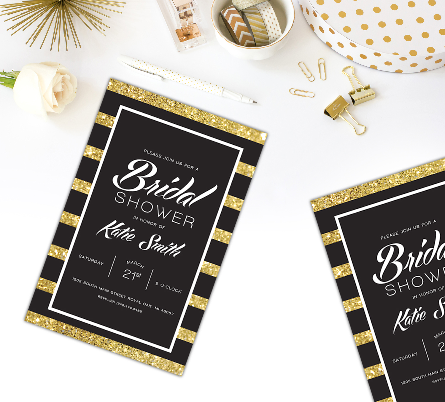 Gold Glitter Bridal Shower