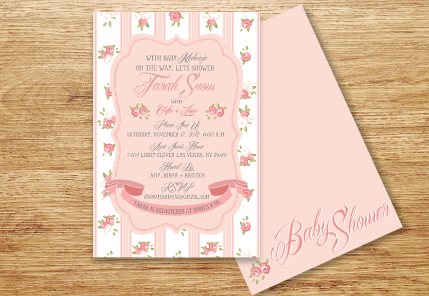 Roses Baby Shower Invite