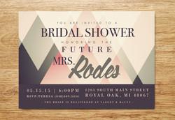 Geometric Bridal Shower