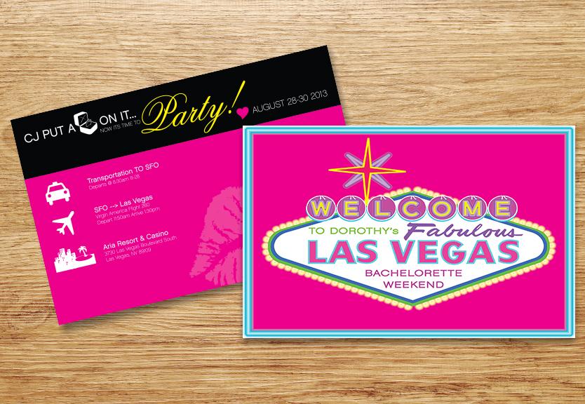 Las Vegas Bachelorette Invite