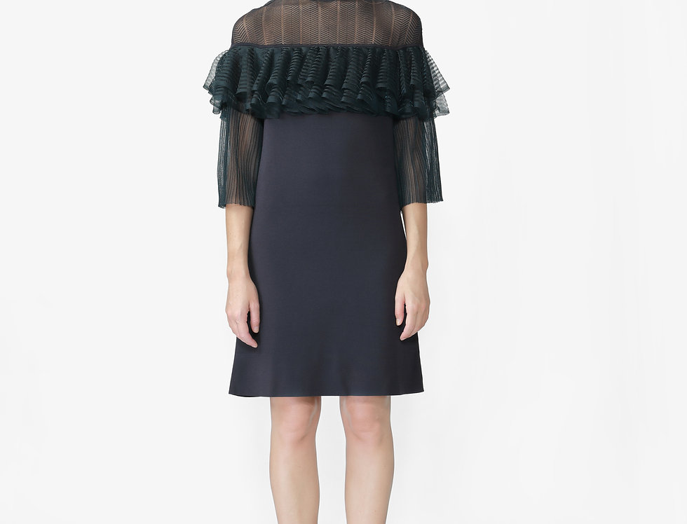 Clover A-line knitted dress