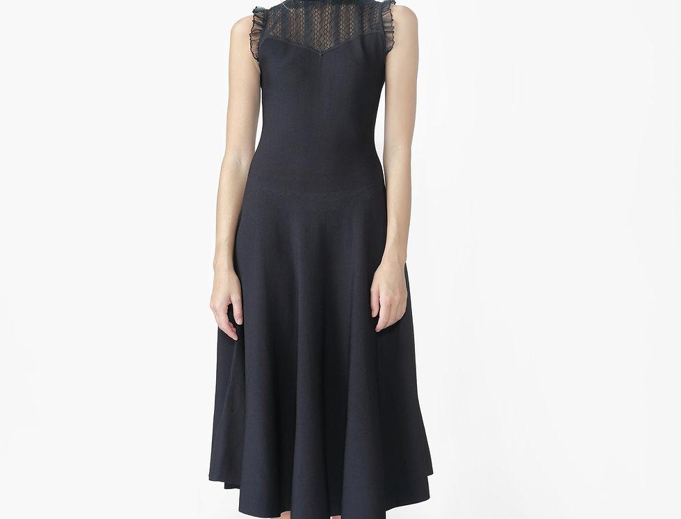 Daisy sleeveless knitted midi dress