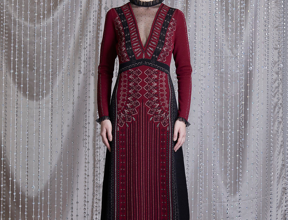 Ruby Jacquard midi dress