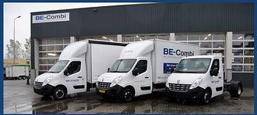 Verhuur bedrijfswagens van BE-combi