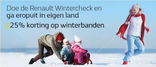 Winter actie 25% korting op winterbanden Renault