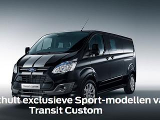 Ford onthult exclusieve Sport-modellen van Transit Custom