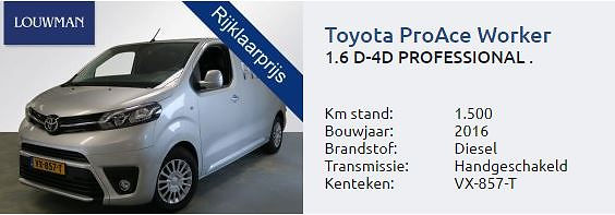 Aanbieding Toyota Proace van Louwman Groningen