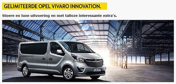 Aanbieding Opel Vivaro