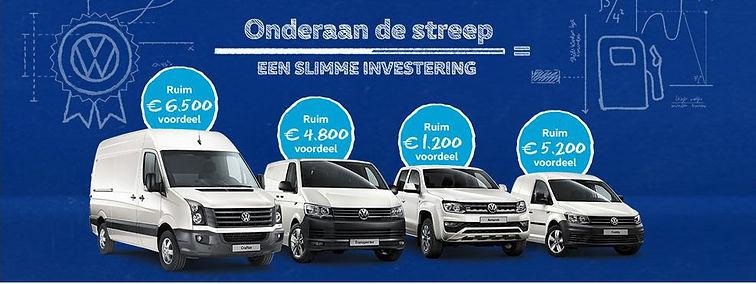 Volkswagen aanbieding Onderaan de streep