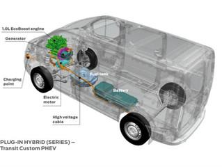 Ford Transit plug-in hybride bestelauto maakt dynamisch debuut