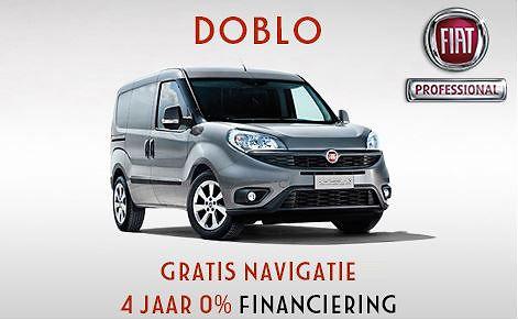 Fiat Doblo gratis navigatie en 0% rente