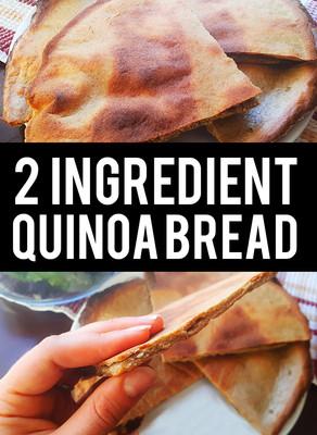 2 Ingredient Quinoa Bread