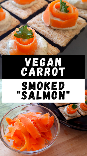 "Vegan Carrot Smoked ""Salmon"""