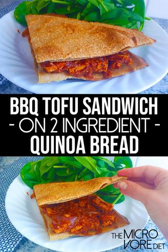 BBQ Tofu Sandwich on 2 Ingredient Quinoa Bread