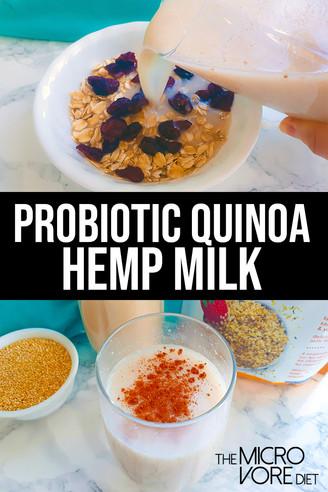 Probiotic Quinoa Hemp Milk
