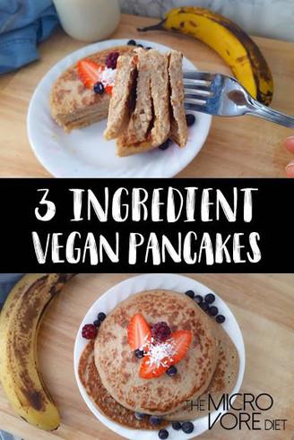 3-Ingredient Pancakes ~ Vegan & GF
