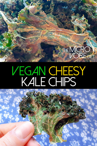 Vegan Cheesy Kale Chips