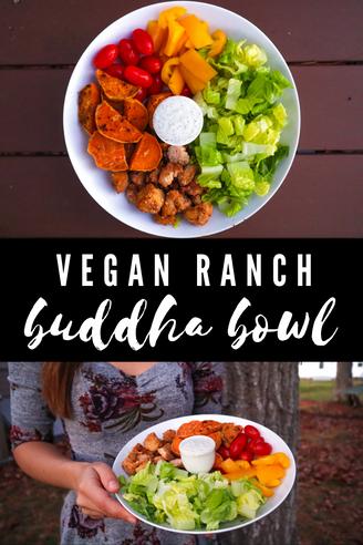 Vegan Weight Loss Meal ♥ Ranch Buddha Bowl