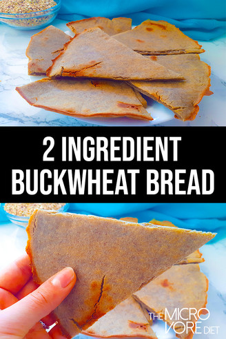 2 Ingredient Buckwheat Bread ~ Gluten-Free & Vegan