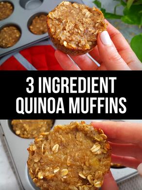 3 Ingredient Quinoa Muffins