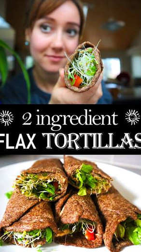 2 Ingredient Flax Tortillas