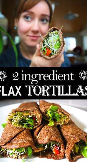 2 Ingredient Flax Tortillas