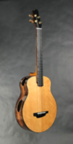 B14 Baritone Striped Macassar Ebony and European Carpathian Spruce.