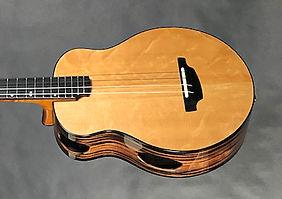 B14 baritone ukulele. Macassar Ebony and Carpathian Spruce