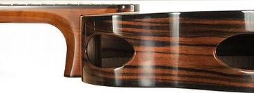 Cantilevered fretboard, on B14 baritone.