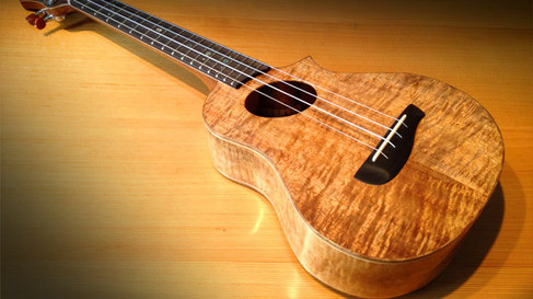 T14 All Koa Tenor ukulele w/ cutaway