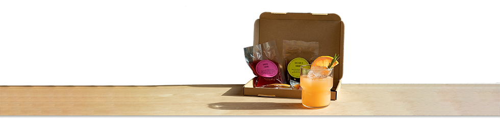 colourful cocktails packaged in a cardboard box