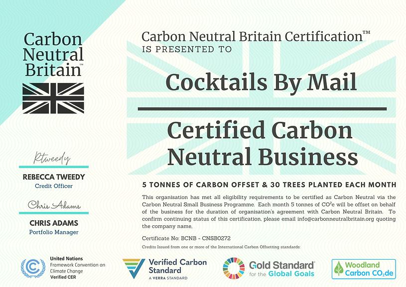Carbon Neutral Small Business Certificat
