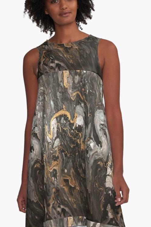 Black Gold Cup Dress