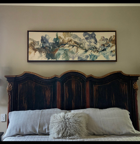 Above king bed