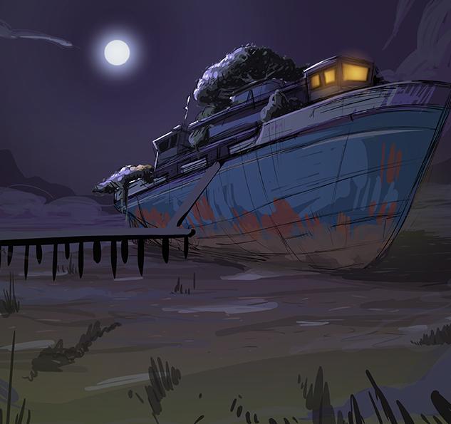 Cauldron Bay- Swamp Boat