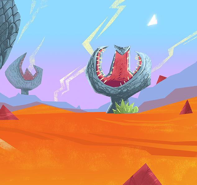 90s style alien landscape