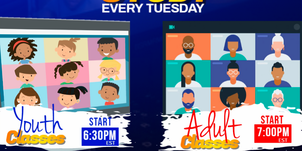 Bible Study: Every Tuesday