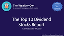 Top 10 Dividend Stocks Report Cover Page