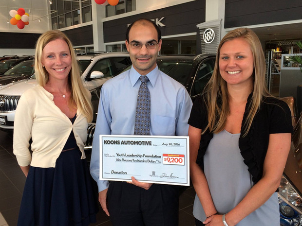 Cheering on Team USA, YLF was awarded $9,200 from Koons Automotive